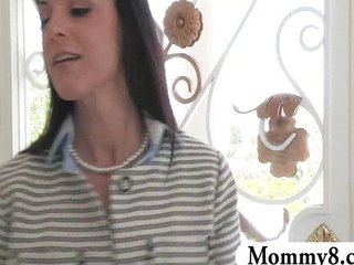 Stepmom MILF takes advantage of teen boy