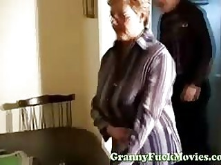Someone's skin doctor gives granny a most assuredly unalloyed vagina exam, he withal as A examines her tits and brashness as A well..