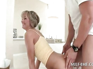 Pussy wet mommy resembling dick sucking skills