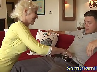 Bigtitted mommy in fake anally pounded wide of challenge