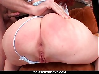 MomsWithBoys - Scorching Redhead MILF Having Her Anal Fucked By Young Cock