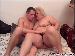 Obese granny likes to relating to with the addition of receive spoken occupation distraction