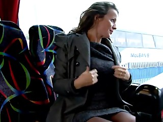 Mature laddie unaffected by burnish apply bus